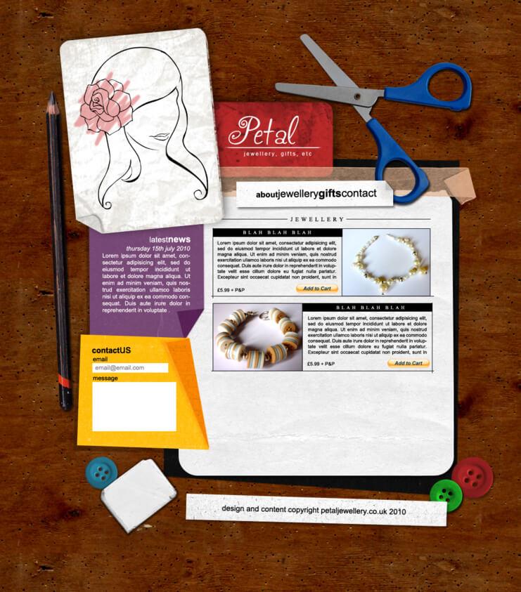 Petal Web Design by ~FantasticHam