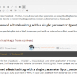 Php convert hash into hashtags from content