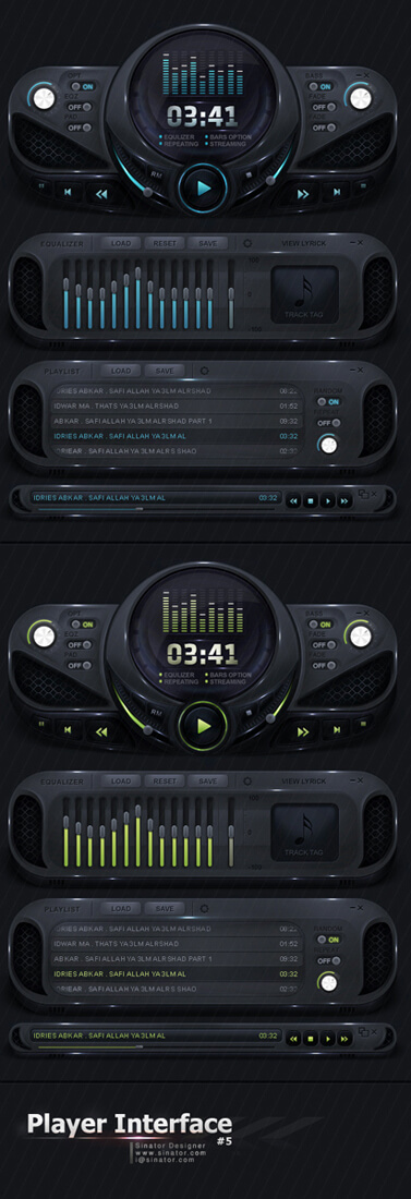 Player Interface 5 by sinator-designer