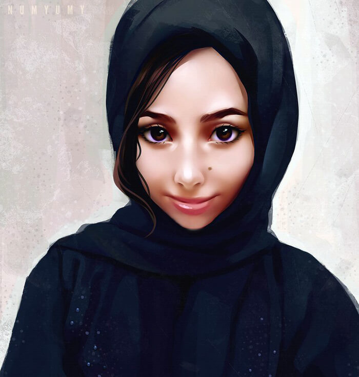 Portrait Commission Khawla by NUMYUMY