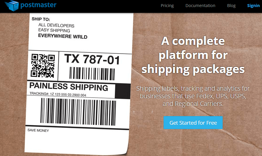 Postmaster - the easiest way to ship packages