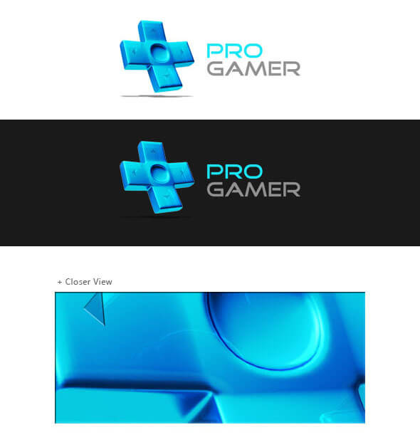 Pro Gamer Logo 3D by IntaglioGraphics