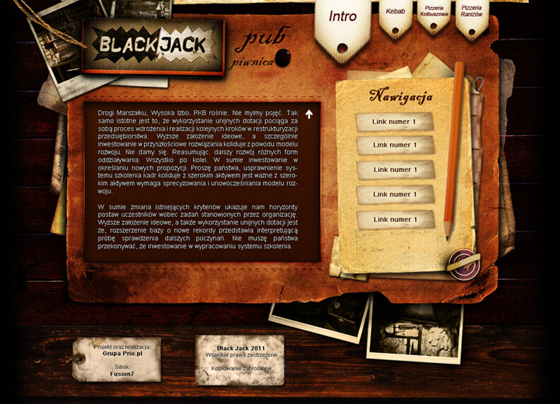 Pub Black Jack Layout by ~hakeryk2