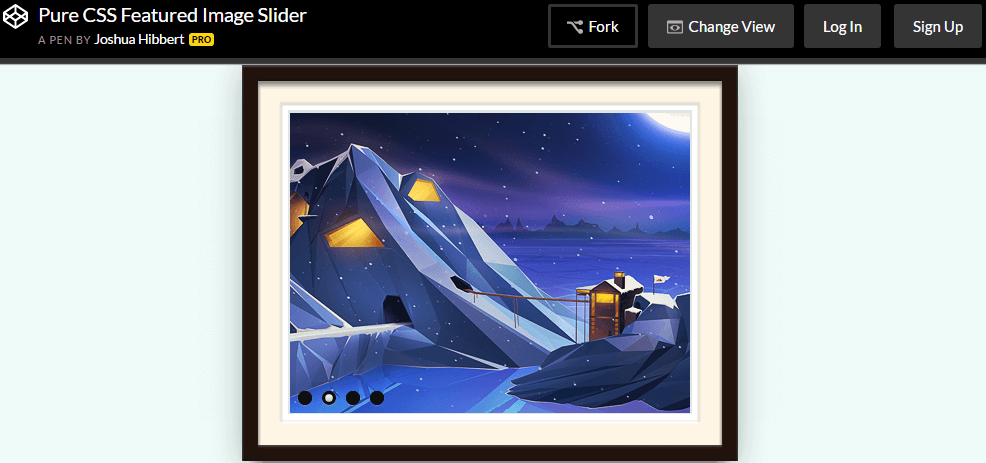 Pure CSS Featured Image Slider by Joshua Hibbert