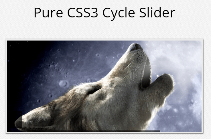 Pure CSS3 Cycle Slider