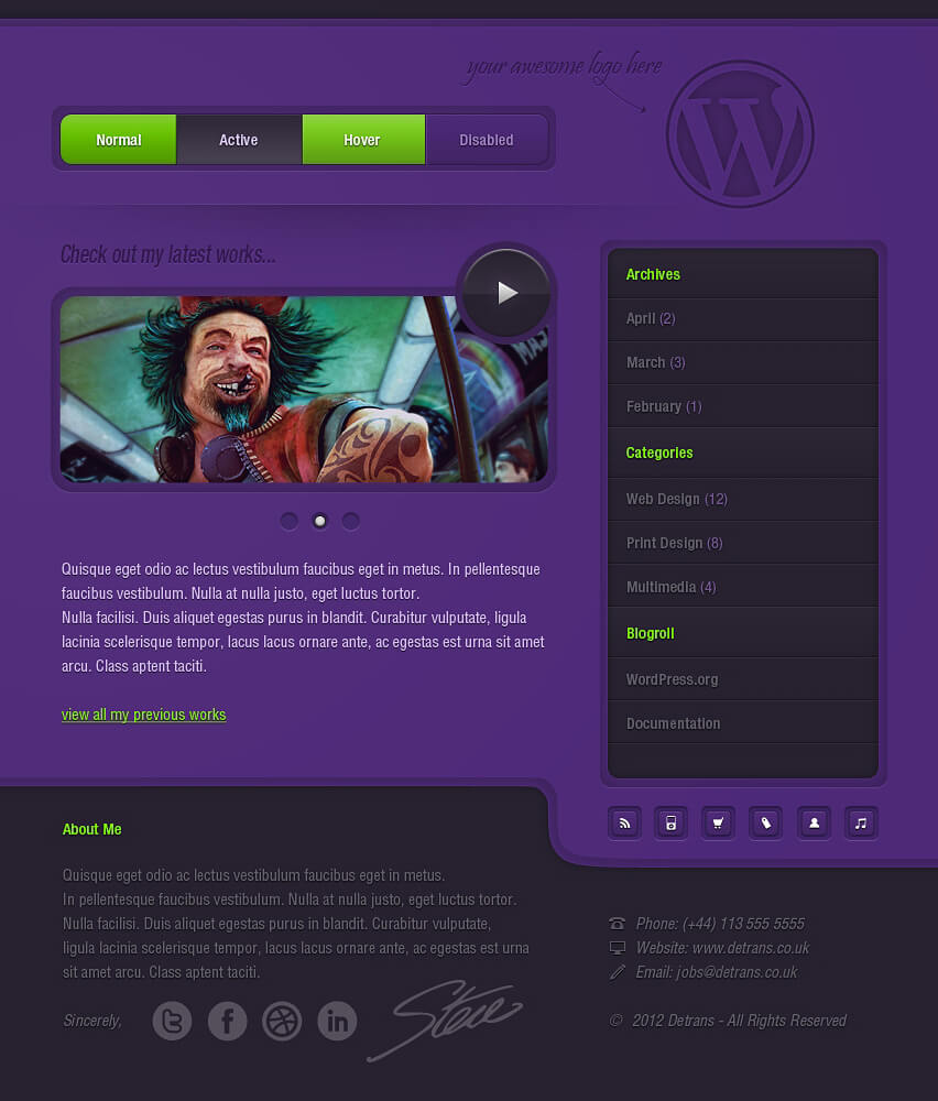 Purple - WP Theme by detrans