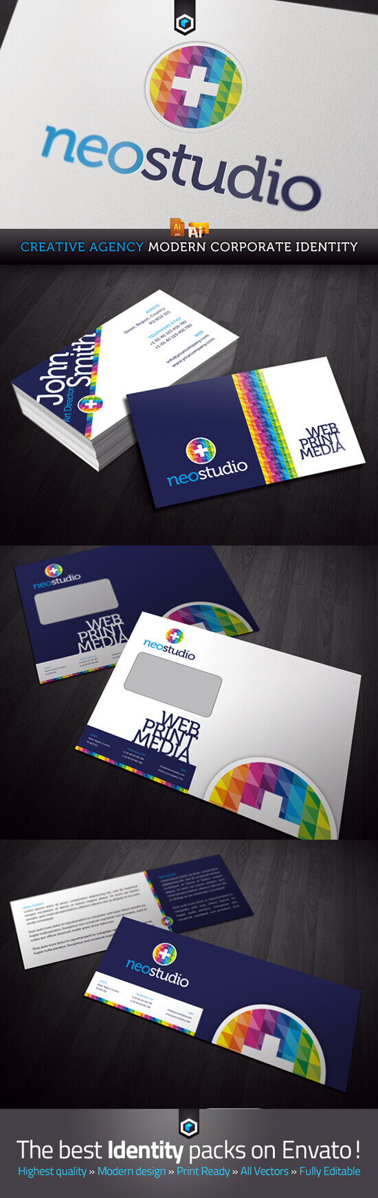 RW Creative Agency Modern Corporate Identity by Reclameworks