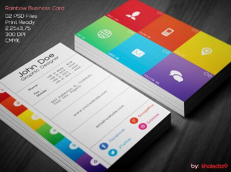 Business Cards Design Ideas 1000 ideas about business card design on pinterest business cards business card templates and corporate business Rainbow Business Card By Khaledzz9