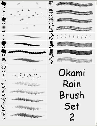 Random Photoshop Brush Set 2 by Okami-Rain
