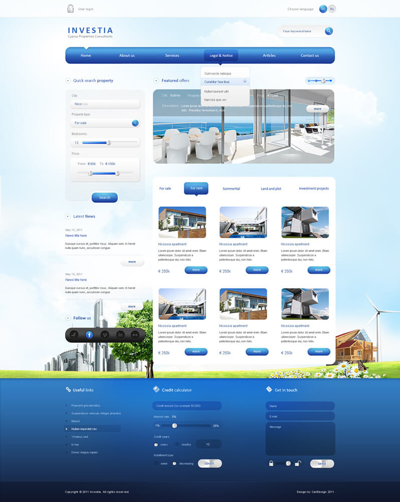 INVESTIA Real Estate website 2 by carl913