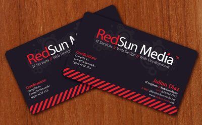 RedSun Media Business Cards by Juliangoesrawr