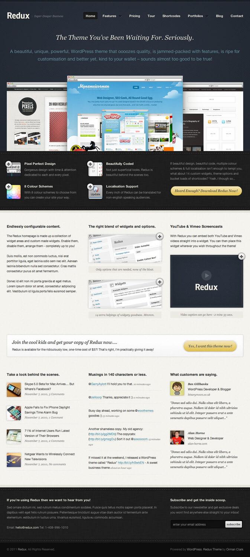 Redux WordPress Theme by ormanclark