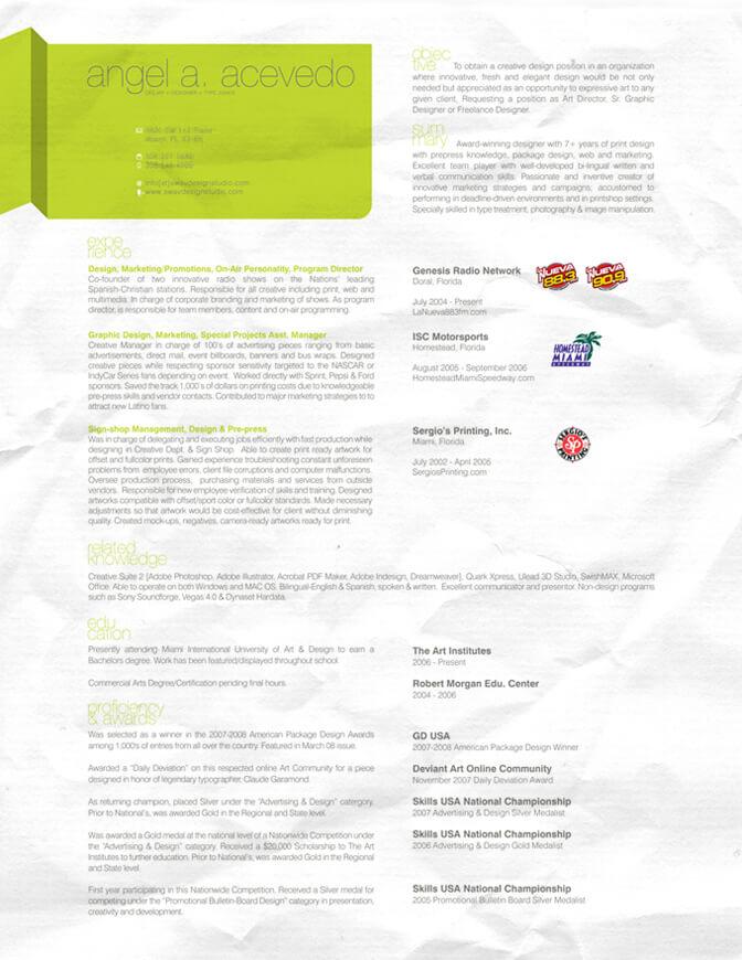 AAA Resume 2006 by djsoundwav