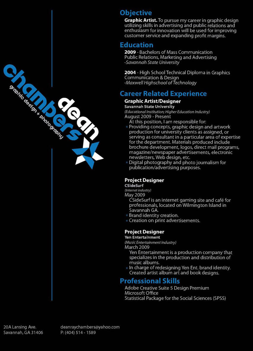 Resume by ~DeanRayChambers