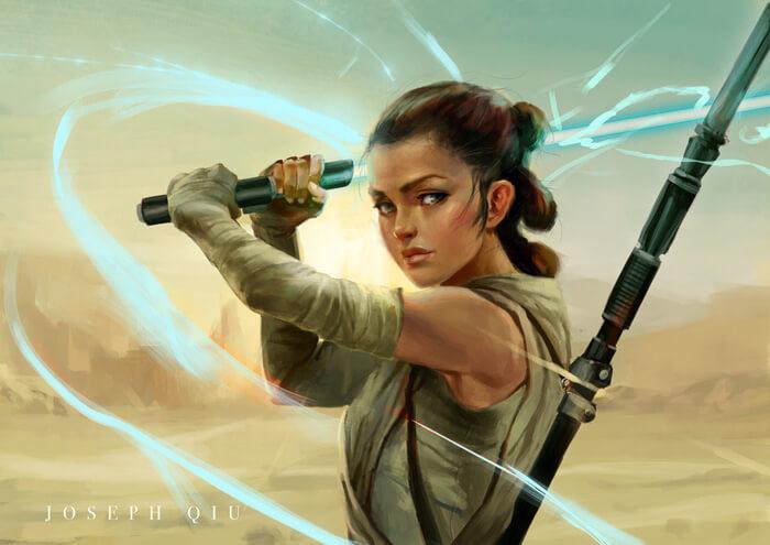 Rey-fan-art by JosephQiuArt