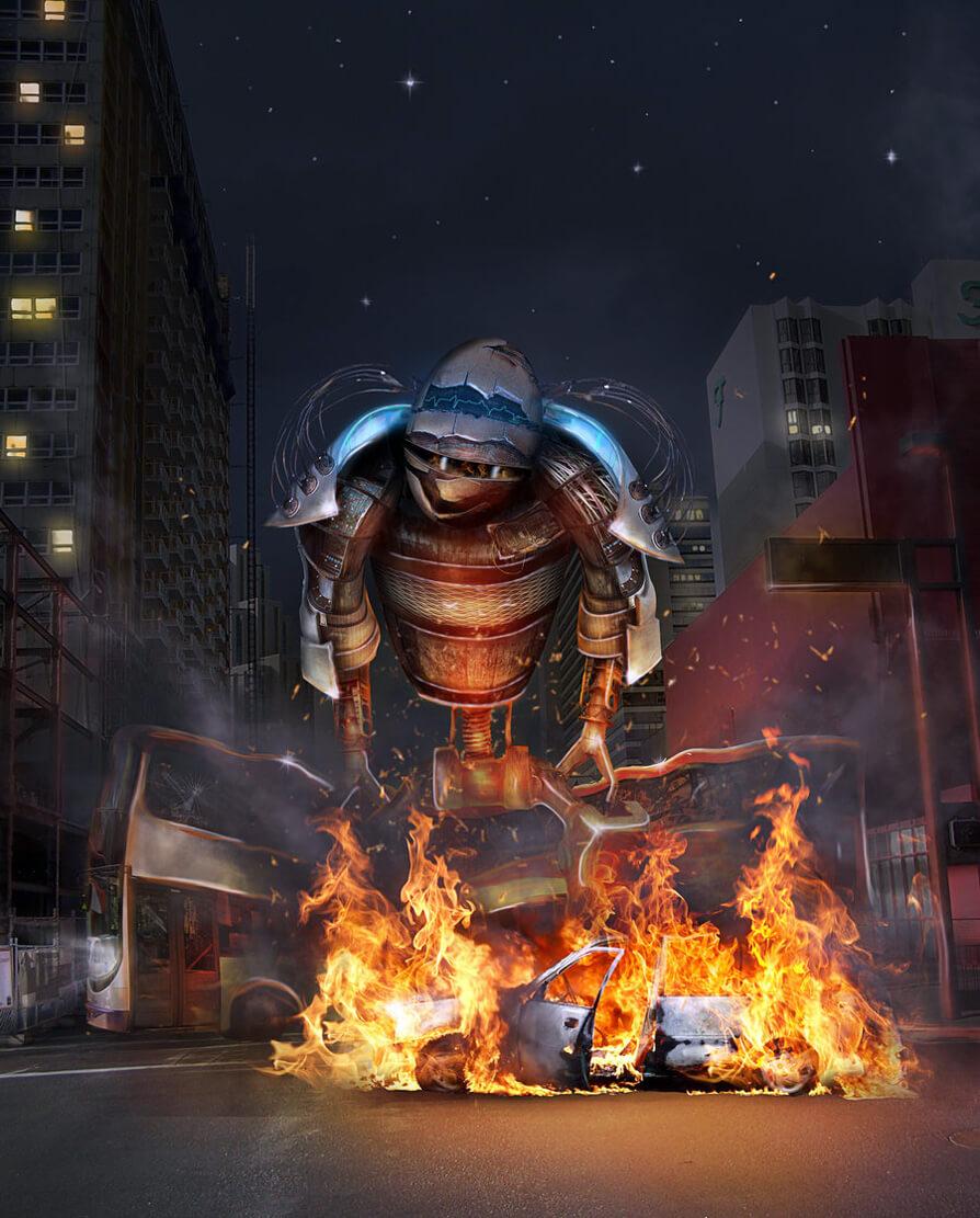 Robot BBQ by JennLaa