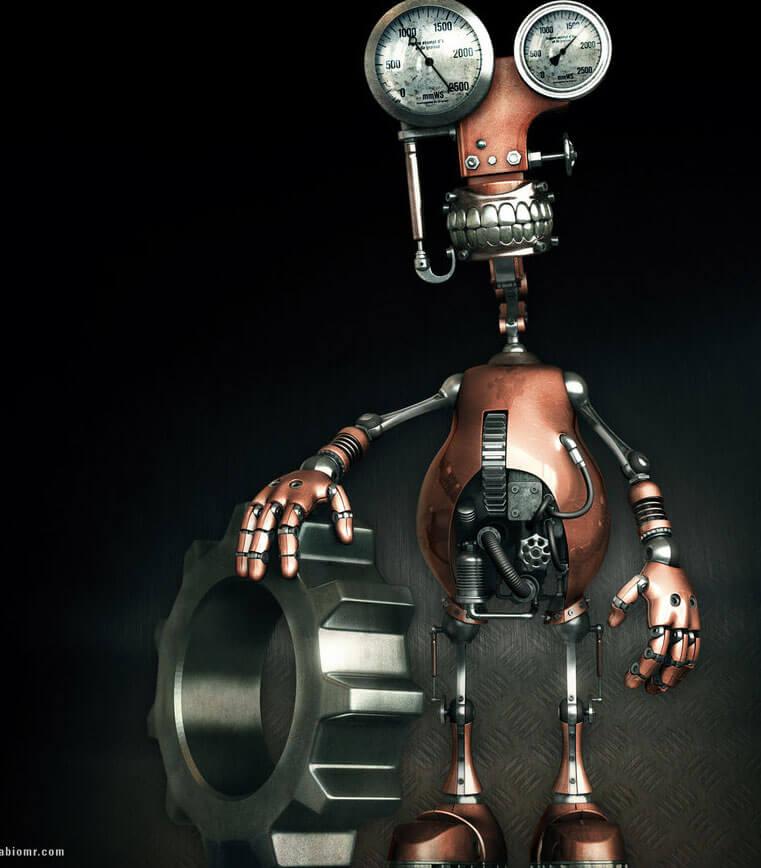 Robot by ~fabioragonha