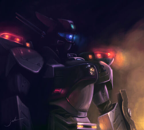 Robot cop by starryjohn