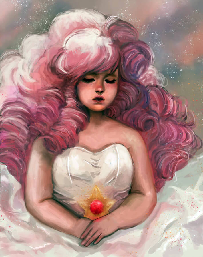 Rose Quartz fan art by morgyuk