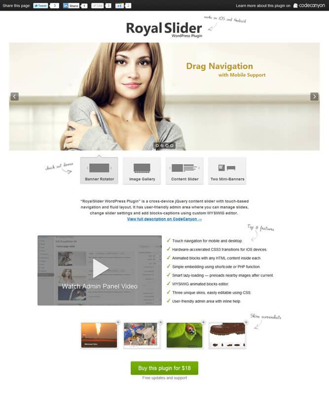 RoyalSlider for WordPress by diiiimaaaa