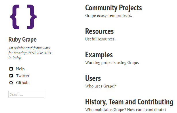 Ruby Grape An opinionated framework
