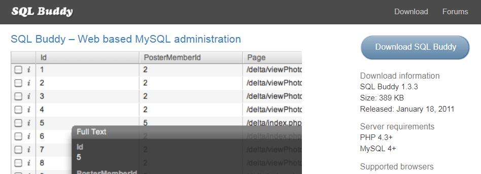 SQL Buddy