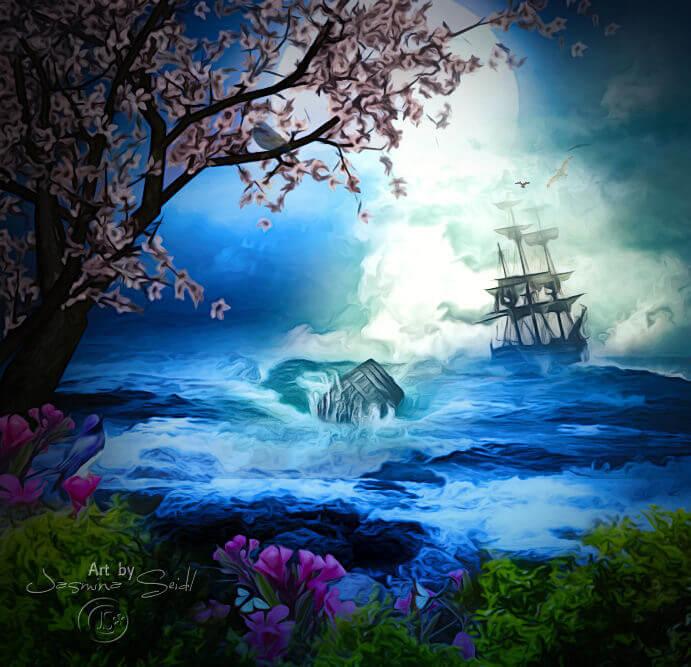 Sailing away by JassysART