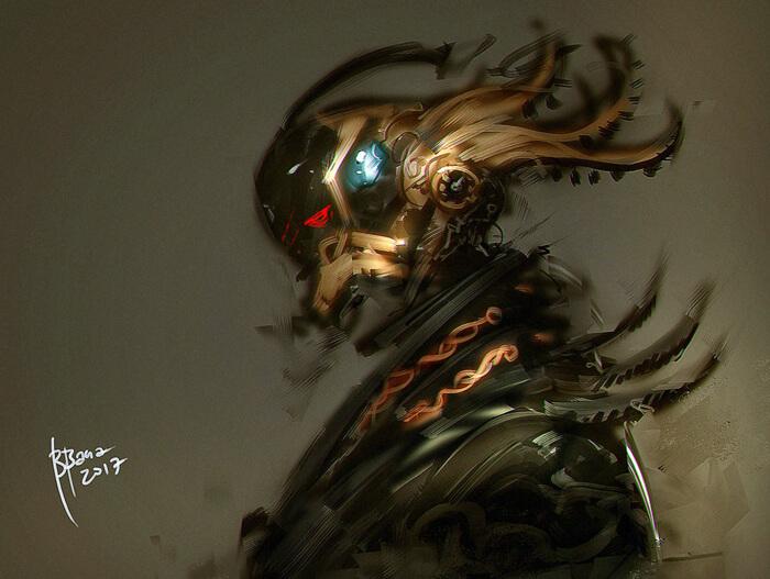 Samurai CyberPunk by benedickbana