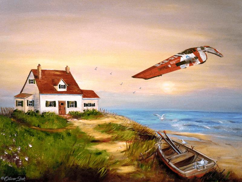 Seaside by OliverInk