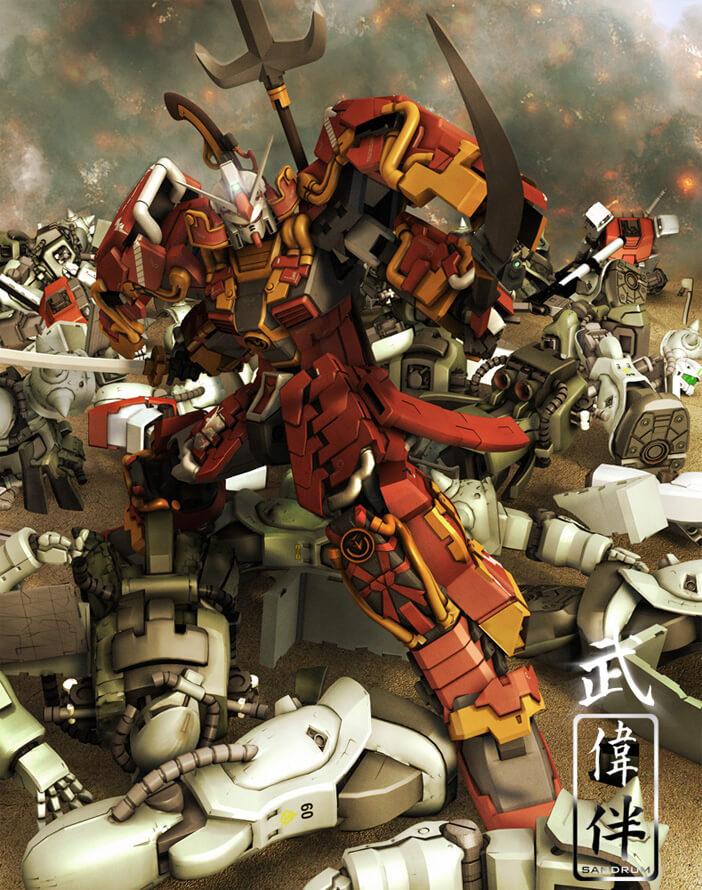 Shin Musha Gundam Dramatica by =sandrum