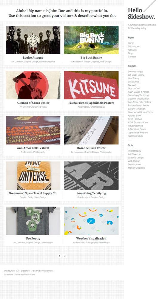 Sideshow WordPress Theme by ormanclark