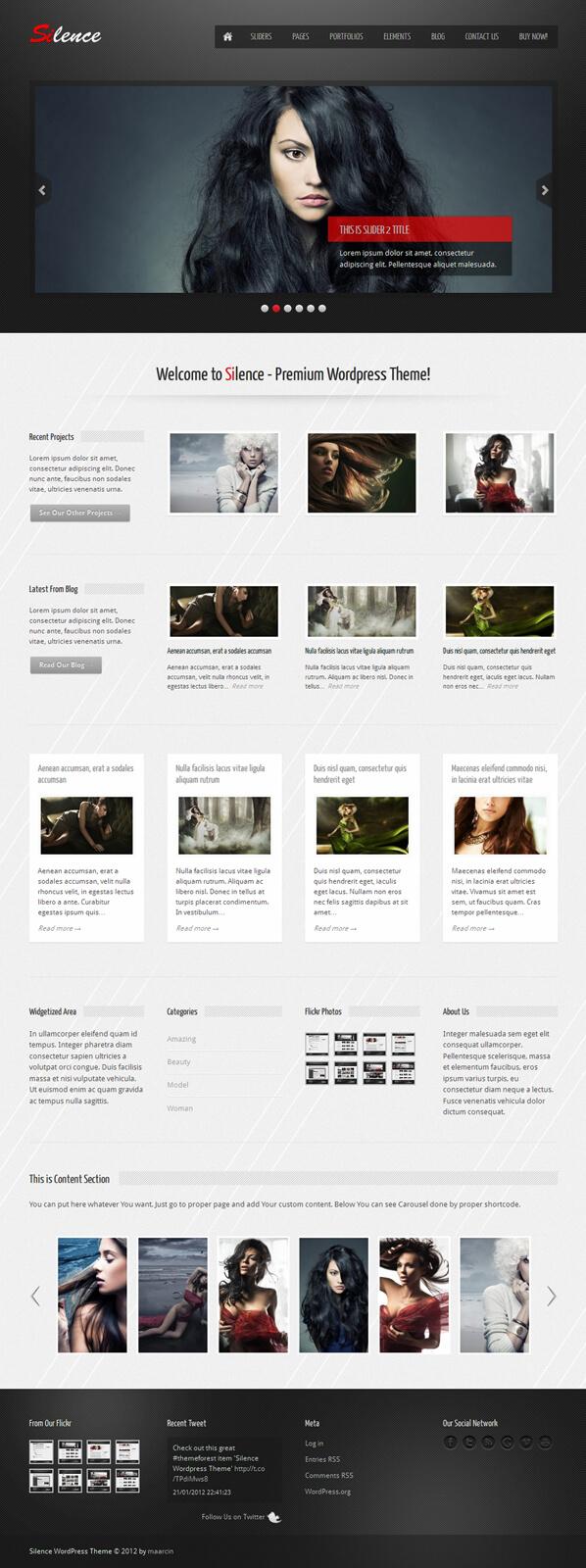 Silence WordPress Theme by m-themes