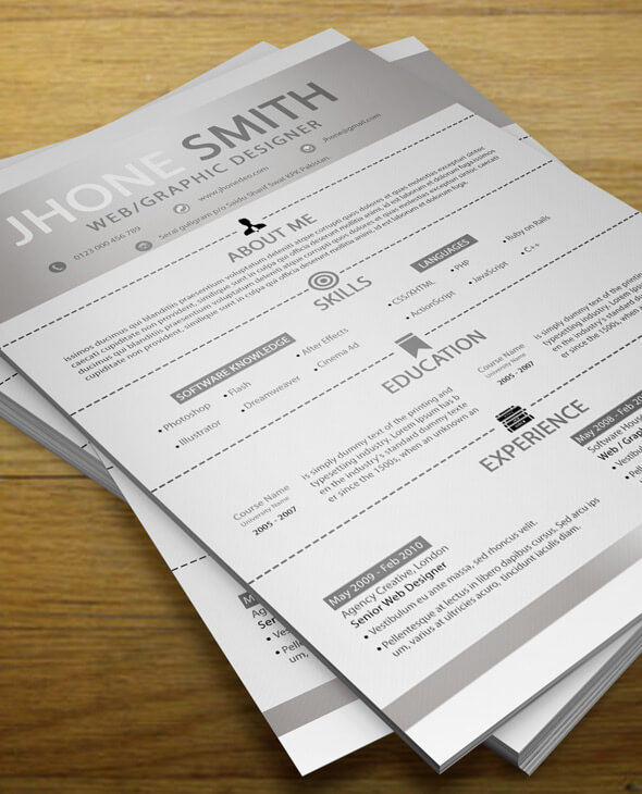 Simple Resume + Cover Letter + Business Card by codegrape