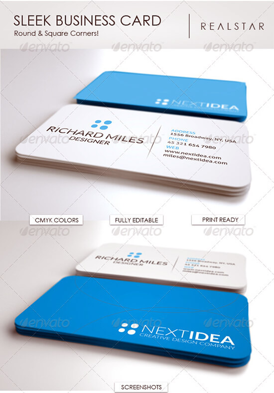 Sleek Business Card by vitalyvelygo