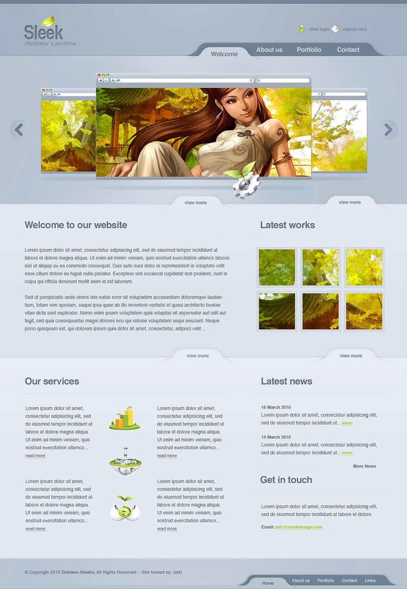 Sleek Design - Web 2.0 Layout by detrans