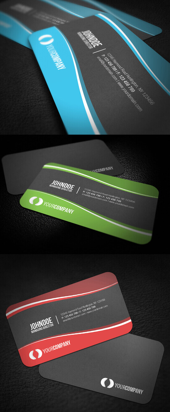 Sleek Rounded Corner Business Card by glenngoh
