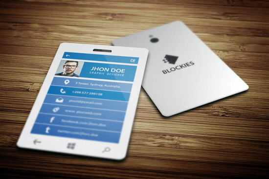 Smart Phone Business Card Template by kazierfan