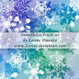Snow Flakes Brush Set by Lorine Pimenta