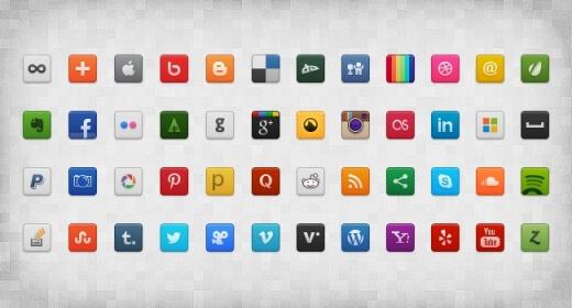 Social Icon Set by gpritiranjan