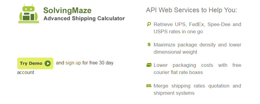 SolvingMaze Advanced Shipping