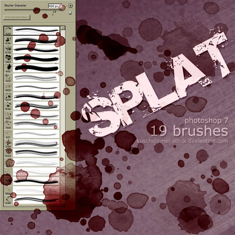 Splat Brushes by kuschelirmel-stock