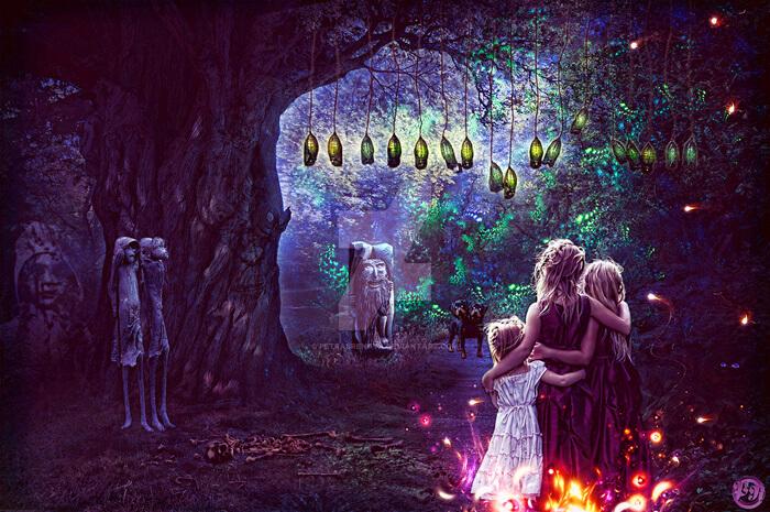 Spooky night by Renata-s-art