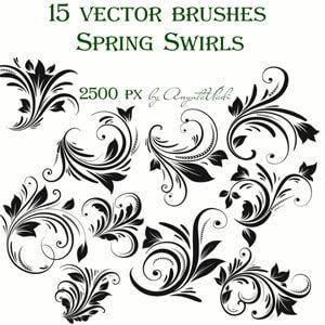 Spring Swirls Vector Brushes  by Anyuta Vladi