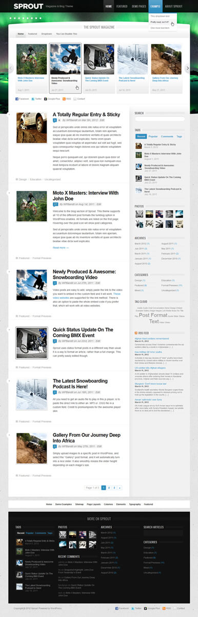 Sprout WordPress Theme by AlxDesign