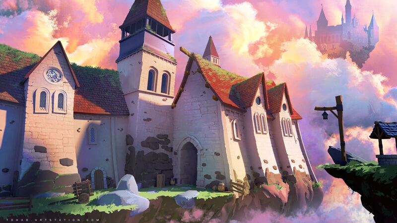 Spyro Reignited Trilogy - The abbey by Tohad
