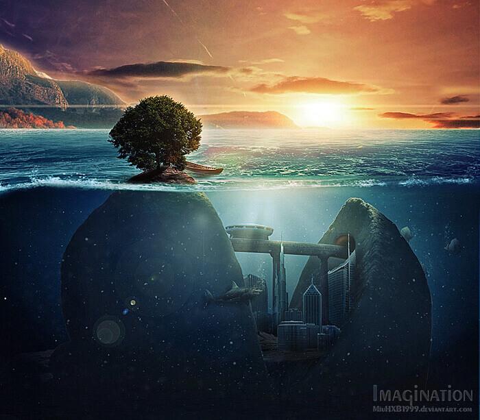 Strangely Underwater Rocks 160320 by MiuHXB1999