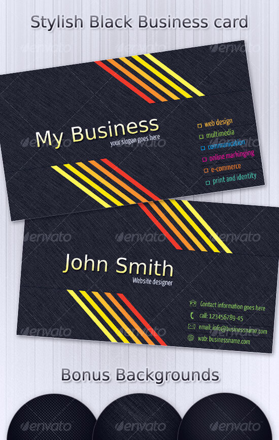 Stylish Black Business Card-2 by khatrijiya