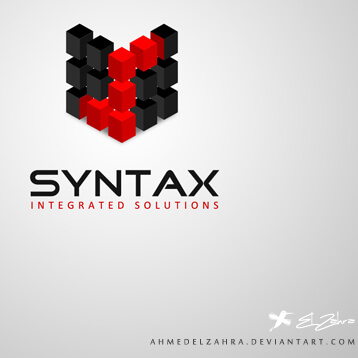 Syntax Logo Design 3D by ahmedelzahra