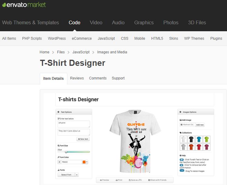 jQuery T-Shirt Designer