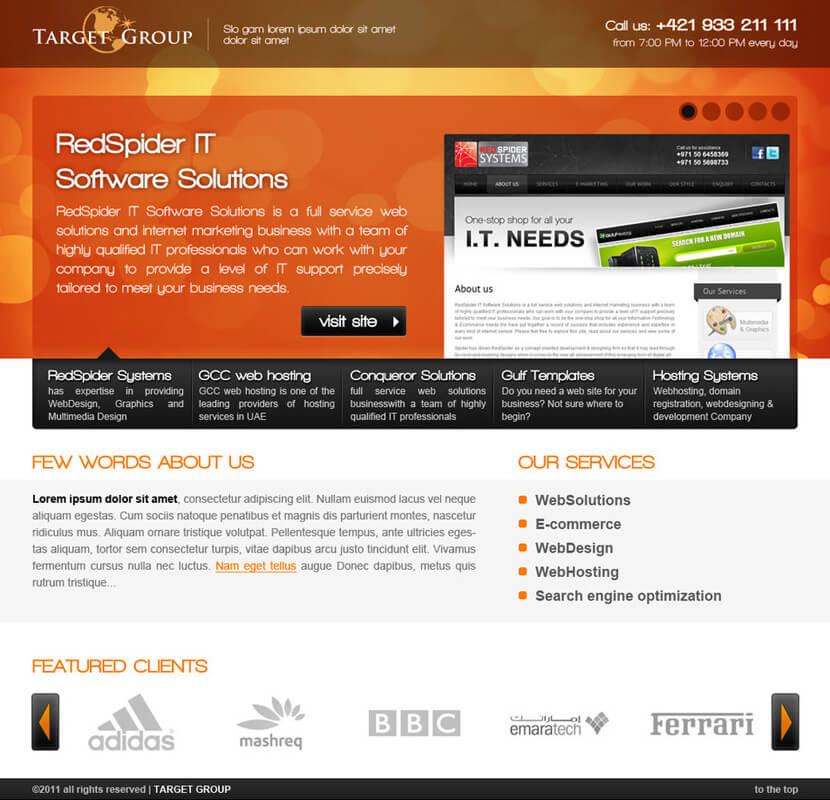 Target dubai webdesign by chrbet